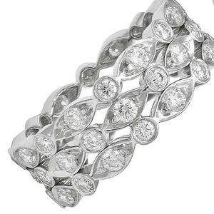 Tiffany & Co three row diamond ring